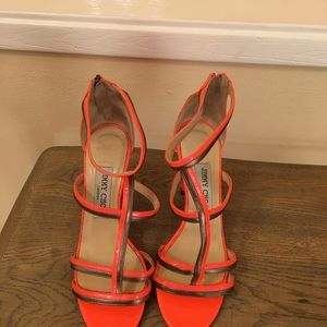 Bright Orange jimmy Choo!